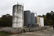 November 3, 2008. Pittsboro, NC..Piedmont Biofuel's industrial production location..Ingredient storage tanks outside the manufacturing facility.