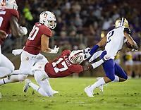 Stanford, CA - October 5, 2019: Kyu Blu Kelly at Stanford Stadium. The Stanford Cardinal beat the University of Washington Huskies 23-13.