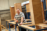 Pictured: Carpentry. Tuesday 23 September 2014<br /> Re: Cardiff and Vale College, Barry Campus.