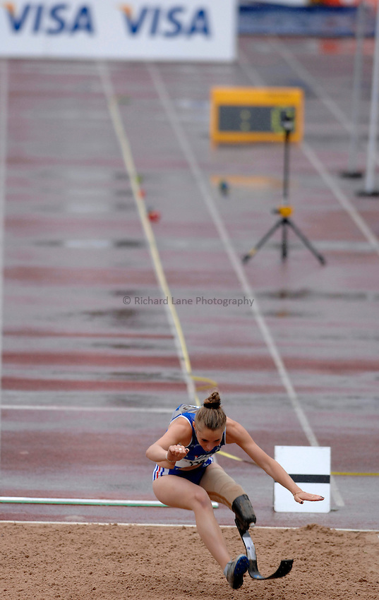 Photo: Richard Lane..VISA Paralympic World Cup 2007. Athletics. 13/05/2007. .Marie-Amelie Le Fur of France in the women's F44 long jump.