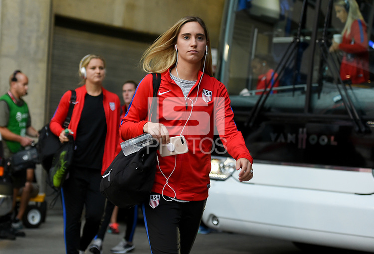 Cincinnati, OH - Tuesday September 19, 2017: Morgan Brian during an International friendly match between the women's National teams of the United States (USA) and New Zealand (NZL) at Nippert Stadium.