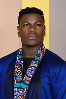 LONDON, ENGLAND - FEBRUARY 8: John Boyega arrives at the 'Black Panther' European premiere at the Eventim Apollo, on February 8th, 2018 in London, England. <br /> CAP/JC<br /> &copy;JC/Capital Pictures