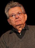 NAPOLI 15/04/2013 ROBERTO SAVIANO RITORNA AL DIALOGO CON LA SUA CITTA PER PRESENTARE IL SUO NUOVO  LIBRO NELLA FOTO ADRIANO SOFRI. ***<br /> The Gomorra's  writer Roberto Saviano came back in  Naples after seven years, . The occasion was the presentation of his latest book ZeroZeroZero