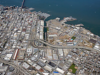 Historical aerial photograph of Mission Bay, San Francisco, California, 2009