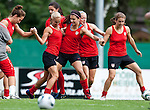 15.06.2011, Steinbergstadion, Leogang, AUT, FIFA WOMENS WORLDCUP 2011, PREPERATION, USA, im Bild Heather Mitts, (USA, #2) ,Alex Morgan, (USA, #13) viel Spaß hatten die US Fussball Damen beim ersten Training in Leogang während eines Trainings zur Vorbereitung auf die FIFA Damen Fussball Weltmeisterschaft 2011 in Deutschland // many Fun have the Ladies from US Soccer Team at the first Training in Leogang during a Trainingssession for the FIFA Women´s Worldcup 2011 in Germany, on 2011/06/15, Steinberg Stadium, Leogang, Austria, EXPA Pictures © 2011, PhotoCredit: EXPA/ J. Feichter