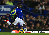 6th February 2019, Goodison Park, Liverpool, England; EPL Premier League Football, Everton versus Manchester City; Idrissa Gueye of Everton plays a long pass in midfield