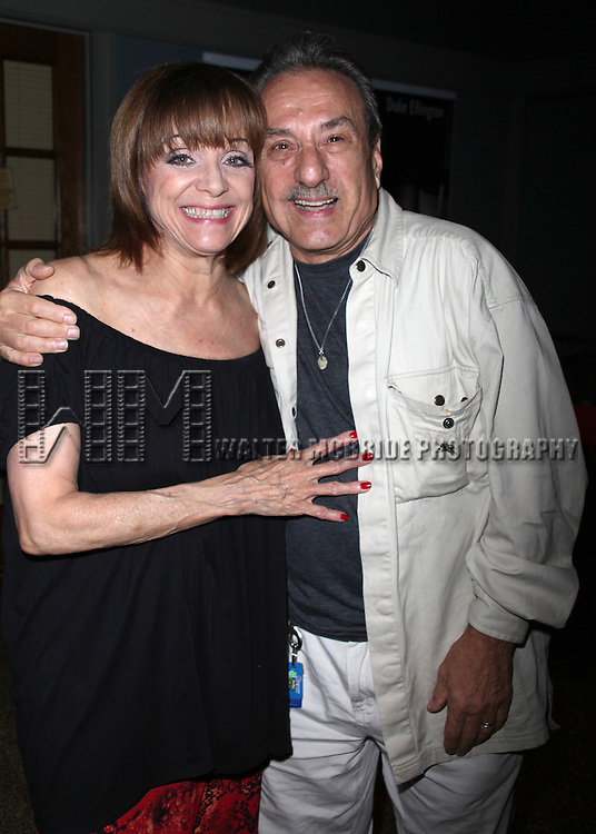 """***Exclusive Coverage***<br /> Backstage at """"LOOPED"""" starring Valerie Harper as Tallulah Bankhead at the Arena Stage - Ford Theatre  in Washington, D.C. June 12, 2009<br /> pictured with her old acting buddy Joe Sicari"""