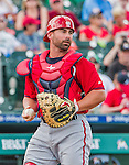 10 March 2015: Washington Nationals catcher Dan Butler in Spring Training action against the Miami Marlins at Roger Dean Stadium in Jupiter, Florida. The Marlins edged out the Nationals 2-1 on a walk-off solo home run in the 9th inning of Grapefruit League play. Mandatory Credit: Ed Wolfstein Photo *** RAW (NEF) Image File Available ***