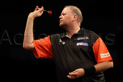 13.06.2015. Frankfurt, Germany. BWIN, PDC World Cup of Darts.  RAYMOND VAN BARNEVELD Netherlands versus USA.