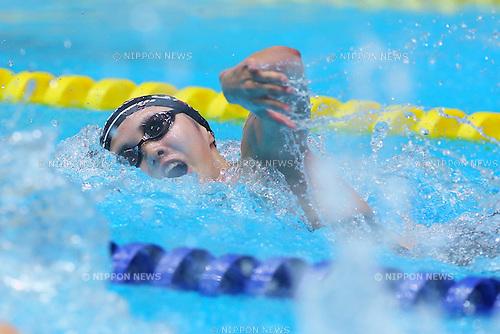 Yui Yamane (JPN), JULY 4, 2015 - Swimming : The 28th Summer Universiade 2015 Gwangju Women's 4x100m Freestyle Relay Final at Nambu University International Aquatics Center in Gwangju, South Korea. (Photo by Sho Tamura/AFLO SPORT)