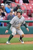 Beloit Snappers outfielder Brett Vertigan #2 during a game against the Kane County Cougars on May 26, 2013 at Fifth Third Bank Ballpark in Geneva, Illinois.  Beloit defeated Kane County 6-5.  (Mike Janes/Four Seam Images)