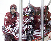 - The Boston College Eagles defeated the University of Massachusetts-Amherst Minutemen 3-2 to take their Hockey East Quarterfinal matchup in two games on Saturday, March 10, 2012, at Kelley Rink in Conte Forum in Chestnut Hill, Massachusetts.