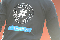 Blackpool players wear National Citizen Service t-shirts during the pre-match warm-up <br /> <br /> Photographer Kevin Barnes/CameraSport<br /> <br /> The EFL Sky Bet League One - Blackpool v Walsall - Saturday 9th February 2019 - Bloomfield Road - Blackpool<br /> <br /> World Copyright © 2019 CameraSport. All rights reserved. 43 Linden Ave. Countesthorpe. Leicester. England. LE8 5PG - Tel: +44 (0) 116 277 4147 - admin@camerasport.com - www.camerasport.com