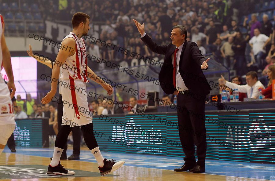 Marko Guduric Dejan Radonjic Mocart Mozzart KLS Kosarkaska Liga Srbije, 25.4.2017.  (credit image & photo: Pedja Milosavljevic / STARSPORT)