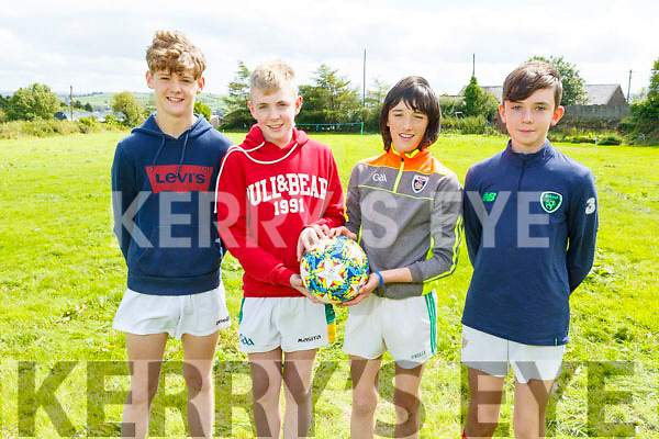 Eoin McSweeney, Shane Brown, Jack Russell and Ciaran Brosnan at the family fun day in Knocknagoshel on Friday