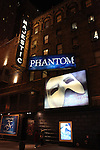 Theatre Marquee for the 'Phantom of the Opera' - 25 Years on Broadway Gala Performance at the Majestic Theatre in New York City on 1/26/2013