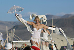 at the Burningman counter culture arts festival in the Black Rock Desert 100 miles north east of Reno, NV, Friday, Sept 3, 2004.(Photo Scott Sady/Reno, Gazette-Journal).