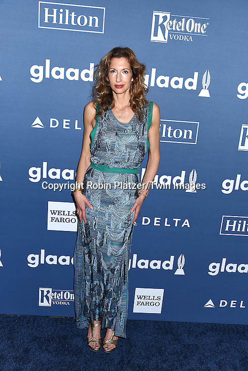 Alysia Reiner attends the 27th Annual GLAAD Media Awards on May 14, 2016 at the Waldorf Astoria Hotel in New York City, New York, USA.<br /> <br /> photo by Robin Platzer/Twin Images<br />  <br /> phone number 212-935-0770
