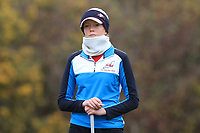 Patience Rhodes (ENG) on the 13th tee during Round 1 of the Irish Girls U18 Open Stroke Play Championship at Roganstown Golf &amp; Country Club, Dublin, Ireland. 05/04/19 <br /> Picture:  Thos Caffrey / www.golffile.ie
