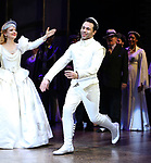 "Stephanie Styles and Corbin Bleu during the Broadway Opening Night Curtain Call for ""Kiss Me, Kate""  at Studio 54 on March 14, 2019 in New York City."