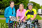 Elish Cronin from Killarney, Elaine O'Connor from Killarney and Maura Kennedy from Listry. at the Kerry Emergency Services 75km Cycle in aid of Alzeimhers and South West Counselling starting at the Tralee Town Park on Saturday