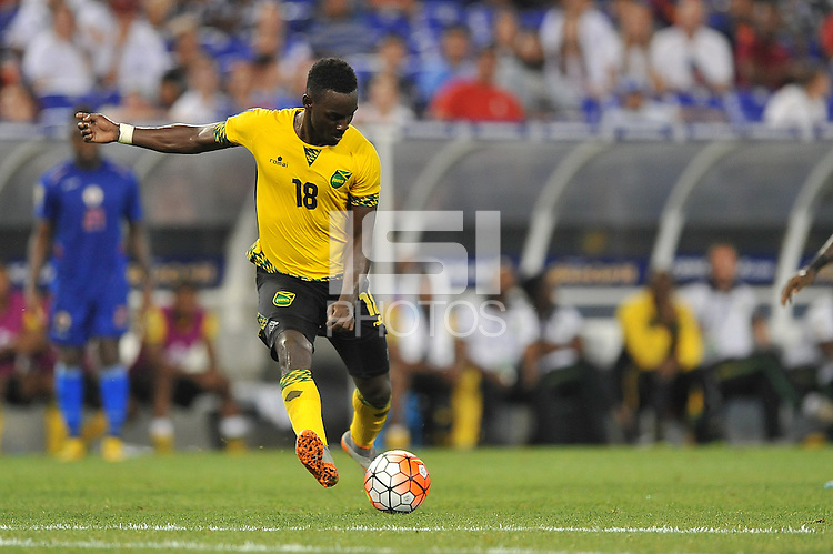 Baltimore  MD.- July 18, 2015:   Jamaica  defeated  Haiti 1-0 during the Quarter final match of the 2015 Gold Cup at M&T Bank Stadium.