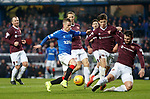 01.12.2019 Rangers v Hearts: Steven Davis single handedly takes on the Hearts defence