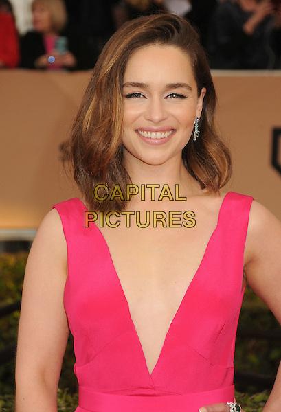 30 January 2016 - Los Angeles, California - Emilia Clarke. 22nd Annual Screen Actors Guild Awards held at The Shrine Auditorium.      <br /> CAP/ADM/BP<br /> &copy;BP/ADM/Capital Pictures