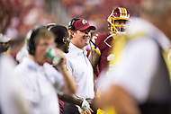Landover, MD - August 16, 2018: Washington Redskins head coach Jay Gruden on the sidelines during preseason game between the New York Jets and Washington Redskins at FedEx Field in Landover, MD. (Photo by Phillip Peters/Media Images International)