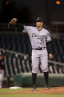 AZL White Sox relief pitcher Rigo Fernandez (31) during an Arizona League game against the AZL Indians 1 at Goodyear Ballpark on June 20, 2018 in Goodyear, Arizona. AZL Indians 1 defeated AZL White Sox 8-7. (Zachary Lucy/Four Seam Images)
