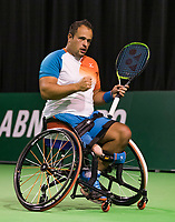 Rotterdam, The Netherlands, 14 Februari 2019, ABNAMRO World Tennis Tournament, Ahoy, first round wheelchair singles: Tom Egberink (NED),<br /> Photo: www.tennisimages.com/Henk Koster