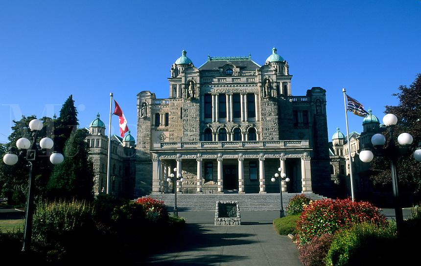 Parliament Building called The Birdcages, Victoria, British Columbia, Canada