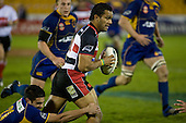 Lelia Masaga makes his one telling run during the Air New Zealand Cup rugby game played at Mt Smart Stadium, Auckland, between Counties Manukau Steelers & Otago on Thursday August 21st 2008..Otago won 22 - 8 after leading 12 - 8 at halftime.