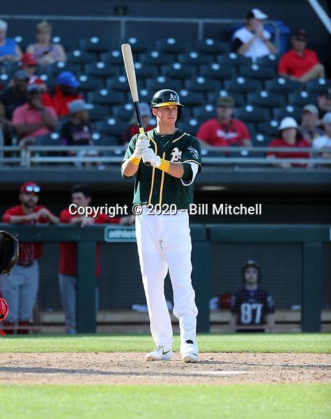 Logan Davidson - Oakland Athletics 2020 spring training (Bill Mitchell)