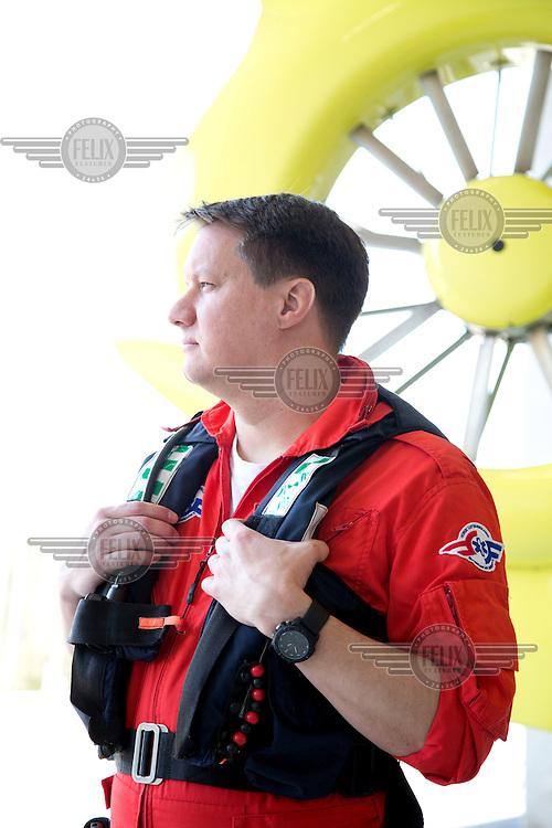 Pilot Andreas Hjert, Norwegian Air Ambulance, speaking about fatigue risk managment.