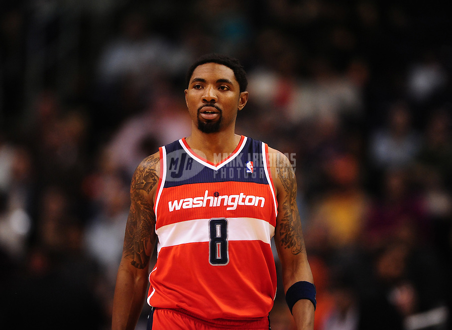 Feb. 20, 2012; Phoenix, AZ, USA; Washington Wizards shooting guard Roger Mason during game against the Phoenix Suns at the US Airways Center. The Suns defeated the Wizards 104-88. Mandatory Credit: Mark J. Rebilas-.