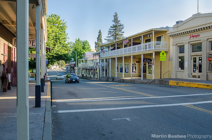 Main Street in downtown Sutter Creek, Amador County, California