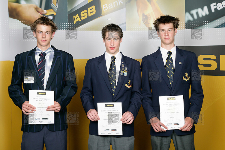 Cycling Boys Finalists. ASB College Sport Young Sportsperson of the Year Awards 2006, held at Eden Park on Thursday 16th of November 2006.<br />