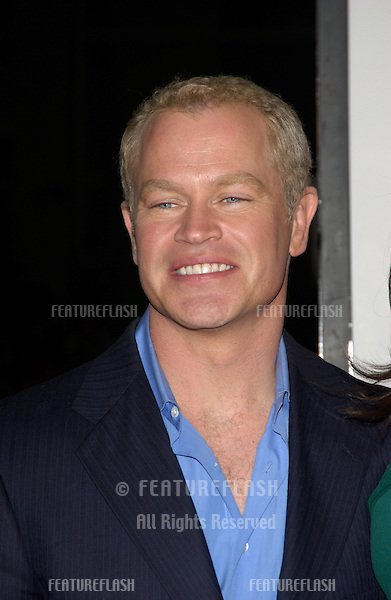 Actor NEAL McDONOUGH & wife at the world premiere, in Hollywood, of his new movie Walking Tall..March 29, 2004