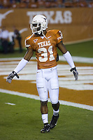 04 November 2006: Texas defender Aaron Ross warms up before the Longhorns 36-10 victory over the Oklahoma State University Cowboys at Darrel K Royal Memorial Stadium in Austin, Texas.