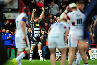 Mark Sorenson of Bristol Rugby celebrates at the final whistle. Greene King IPA Championship Play-off Final (second leg), between Bristol Rugby and Doncaster Knights on May 25, 2016 at Ashton Gate Stadium in Bristol, England. Photo by: Patrick Khachfe / JMP