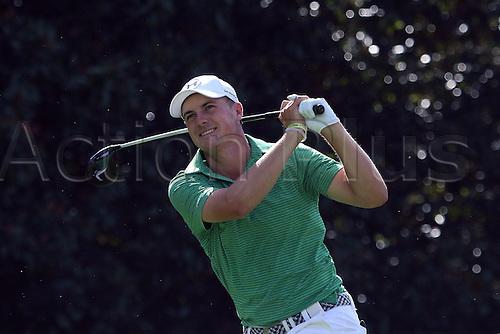 22.09.2016. Atlanta, Georgia, USA.  Jordan Spieth reacts a shot on the 14th hole of the opening round of the 2016 PGA Tour Championship at East Lake Golf Club in Atlanta, Georgia.