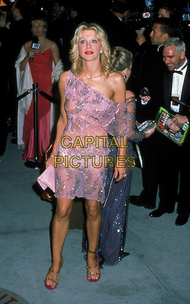 COURTNEY LOVE.Ref: 9629.tattoo on leg, hole, see through, transparent dress, full length, full-length.www.capitalpictures.com.sales@capitalpictures.com.©Capital Pictures