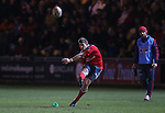 Munster outside half Ian Keatley kicks a second half penalty.<br /> RaboDirect Pro12<br /> Newport Gwent Dragons v Munster<br /> Rodney Parade - Newport<br /> 29.11.13<br /> ©Steve Pope-SPORTINGWALES
