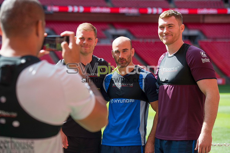 Picture by Allan McKenzie/SWpix.com - 25/08/2017 - Rugby League - Ladbrokes Challenge Cup Final Preview - Hull FC v Wigan Warriors - Wembley Stadium, London, England - Hull FC players at Wembley during the captain's run.