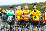 Teddy McCarthy, Tommy Evans, Jonathan McCarthy and Mike Ahern at the top of  Coommosta during their Ring of Kerry cycle on Saturday morning