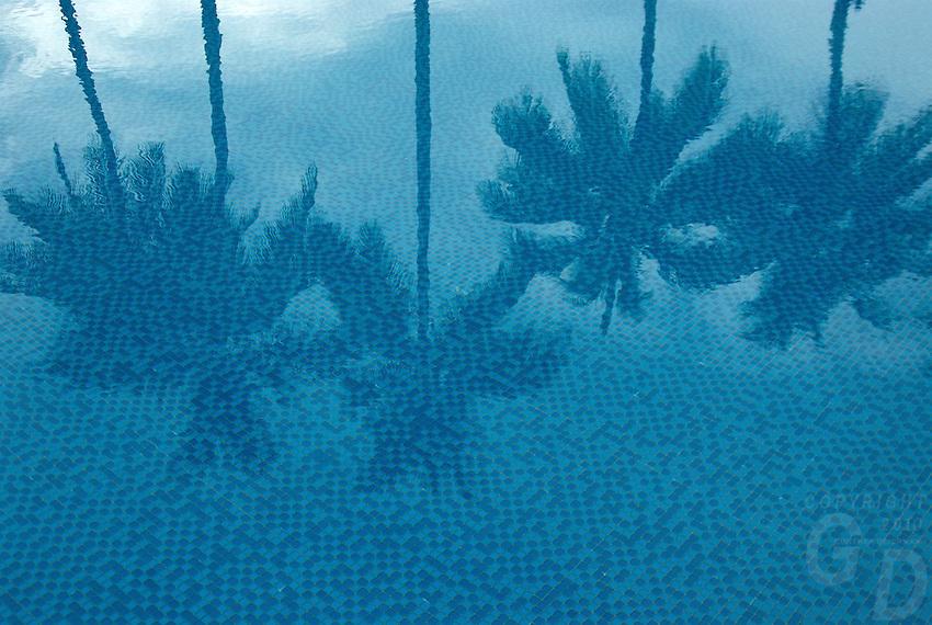 Pool and a resort setting in Palau, Micronesia