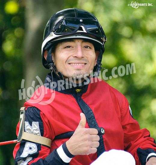 winning at Delaware Park on 8/24/16 Gabriel Saez at Delaware Park on 8/24/16