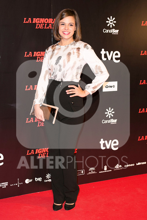 "Marian Araguetes attends ""La Ignorancia de la Sangre"" Premiere at Capitol Cinema in Madrid, Spain. November 13, 2014. (ALTERPHOTOS/Carlos Dafonte)"