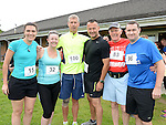 Daniele Corrigan,Andrea Keogh, Peter Gilligan, Peter Walsh, Matt and David Roche who took part in the St Colmcille's Meath Coast Rehab 10k run. Photo:Colin Bell/pressphotos.ie